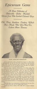 Adaline on Cover of Cooking Brochure